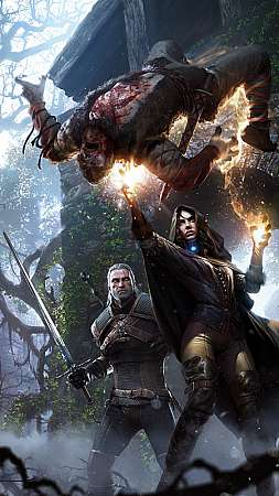 The Witcher 3: Wild Hunt Mobile Vertical fond d'écran