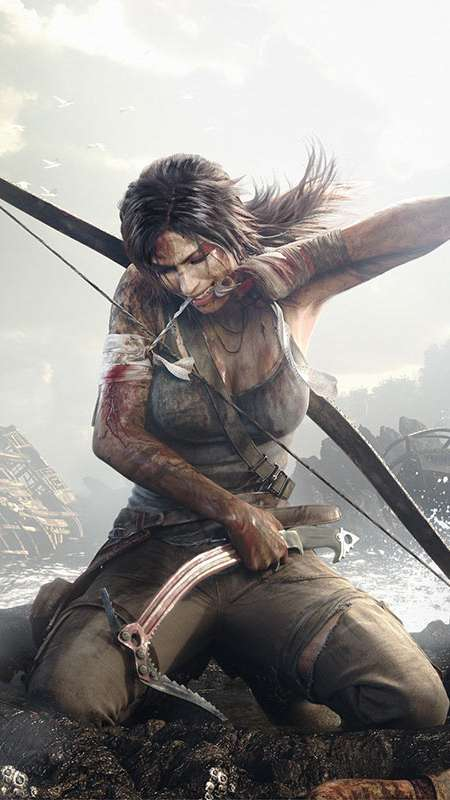 Tomb Raider Mobile Vertical fond d'écran