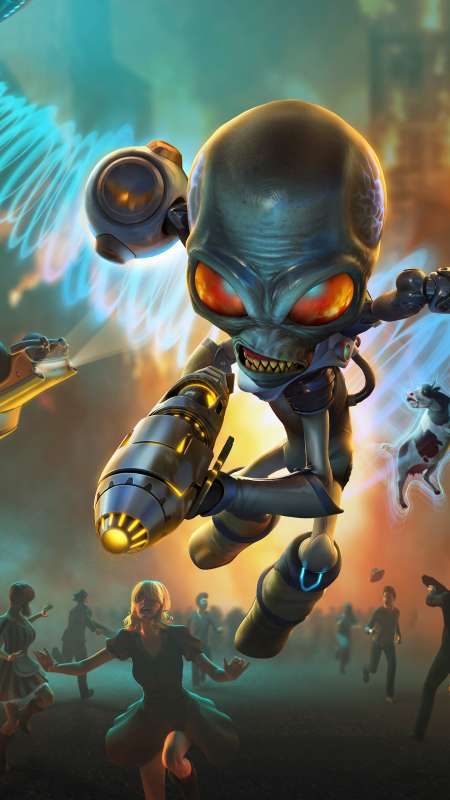 Destroy All Humans 2020 Mobile Vertical fond d'écran