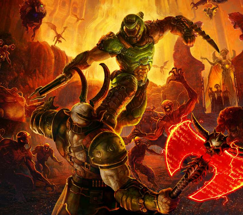 Doom Eternal Mobile Horizontal fond d'écran