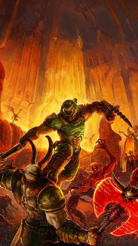 Doom Eternal Mobile Vertical fond d'écran