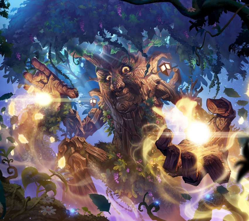 Hearthstone: Descent of Dragons Mobile Horizontal fond d'écran