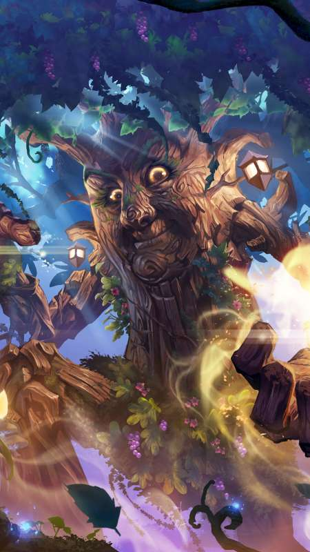 Hearthstone: Descent of Dragons Mobile Vertical fond d'écran
