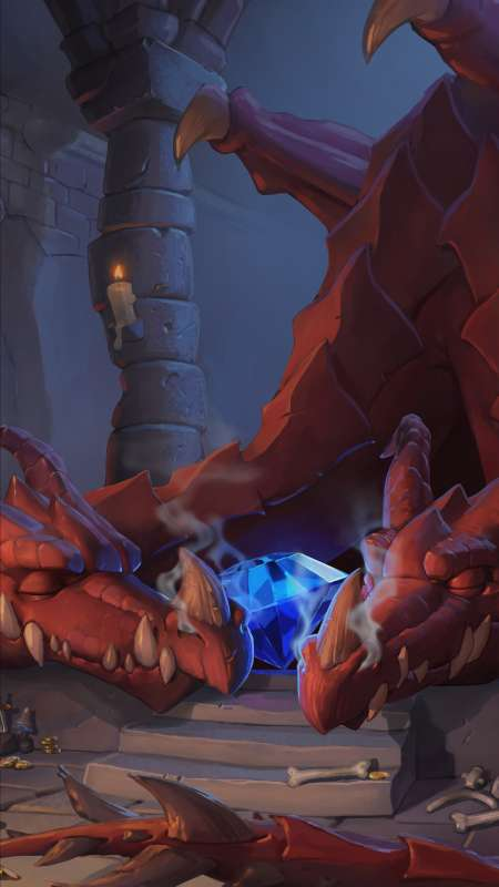 Hearthstone: Heroes of Warcraft - Kobolds & Catacombs Mobile Vertical fond d'écran