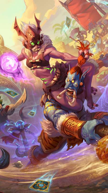Hearthstone: Rastakhan's Rumble Mobile Vertical fond d'écran