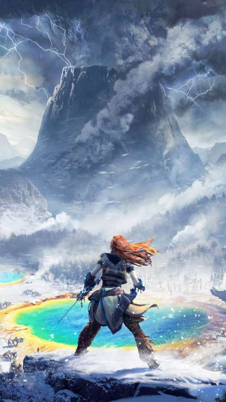 Horizon: Zero Dawn - The Frozen Wilds Mobile Vertical fond d'écran