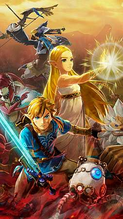 Hyrule Warriors: Age of Calamity Mobile Vertical fond d'écran
