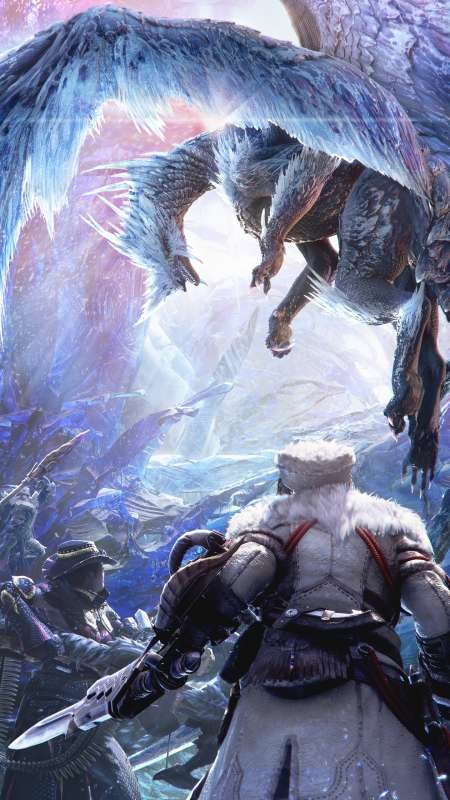 Monster Hunter World: Iceborne Mobile Vertical fond d'écran