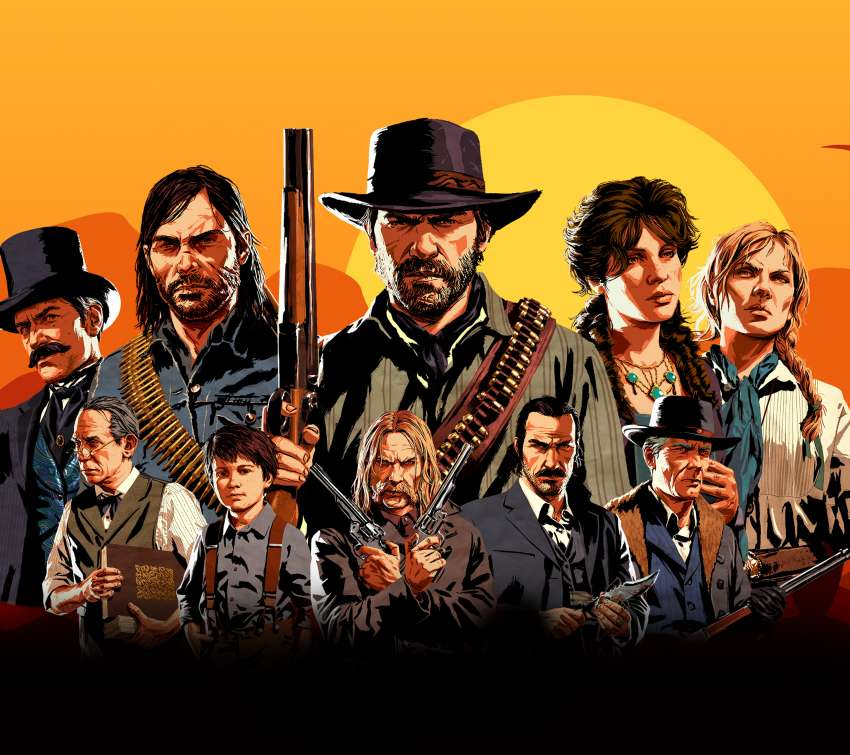 Red Dead Redemption 2 Mobile Horizontal fond d'écran