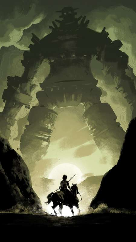 Shadow of the Colossus Mobile Vertical fond d'écran