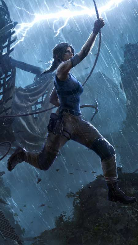 Shadow of the Tomb Raider: The Pillar Mobile Vertical fond d'écran