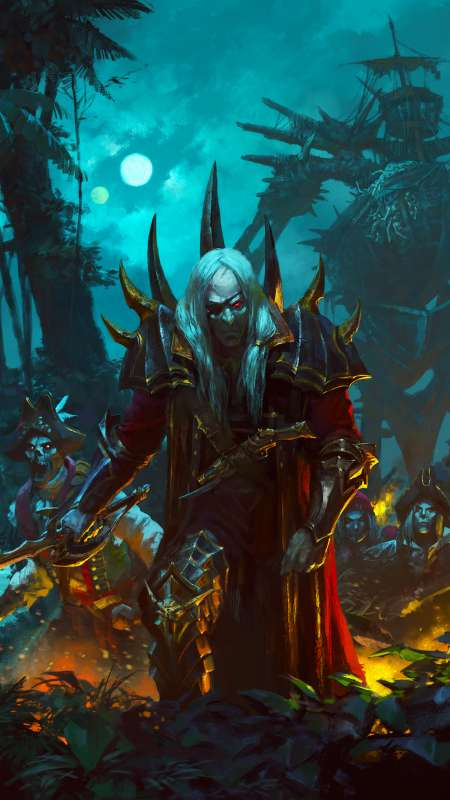 Total War: Warhammer 2 - Curse of the Vampire Coast Mobile Vertical fond d'écran