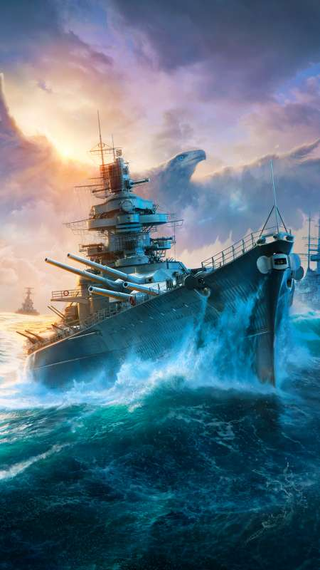 World of Warships Mobile Vertical fond d'écran