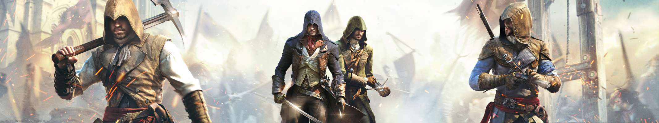 Assassin's Creed: Unity triple screen fond d'écran