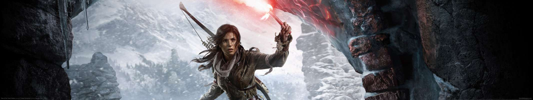 Rise of the Tomb Raider triple screen fond d'écran